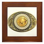 Buffalo gold oval 1 Framed Tile