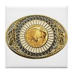 Buffalo gold oval 1 Tile Coaster