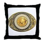 Buffalo gold oval 1 Throw Pillow