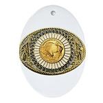 Buffalo gold oval 1 Ornament (Oval)