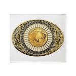 Buffalo gold oval 1 Throw Blanket
