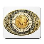 Buffalo gold oval 1 Mousepad