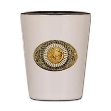 Buffalo gold oval 1 Shot Glass