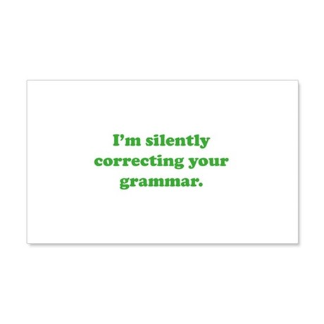 I'm Silently Correcting Your Grammar 22x14 Wall Pe