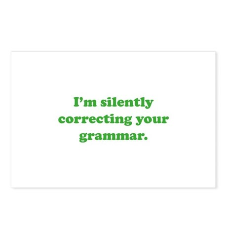 I'm Silently Correcting Your Grammar Postcards (Pa