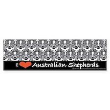 I Love Australian Shepherds Bumper Bumper Bumper Sticker