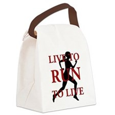 Live to Run Canvas Lunch Bag