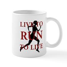 Live to Run Mug