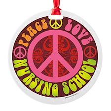 Peace, Love, Nursing School Ornament