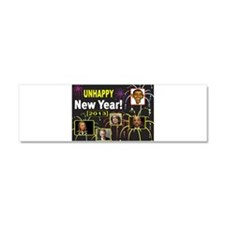 UNHAPPY NEW YEAR Car Magnet 10 x 3