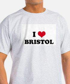 I HEART BRISTOL  Ash Grey T-Shirt