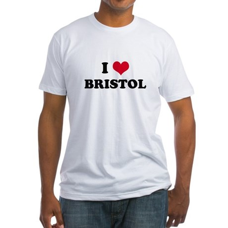 I HEART BRISTOL Fitted T-Shirt