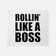 Rollin' Like A Boss Throw Blanket