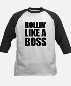 Rollin' Like A Boss Kids Baseball Jersey
