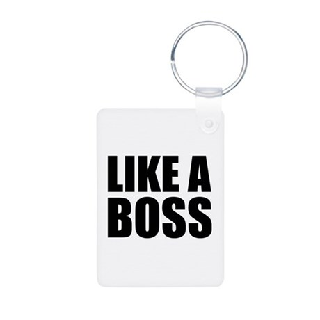 Like A Boss Aluminum Photo Keychain