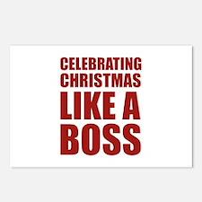 Celebrating Christmas Like A Boss Postcards (Packa