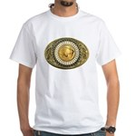 Buffalo gold oval 1 White T-Shirt