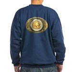 Buffalo gold oval 1 Sweatshirt (dark)