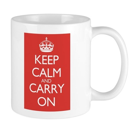 Large Mug Double Red Keep Calm and Carry On Mugs