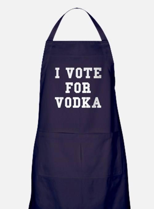 I Vote For Vodka Apron (dark)