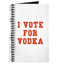 I Vote For Vodka Journal