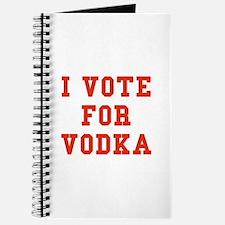 I Vote For Vodka Journal