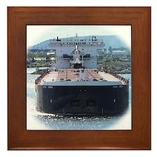 Indiana Harbor departs Duluth Framed Tile