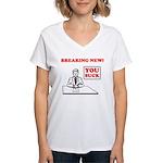 You Suck! Women's V-Neck T-Shirt
