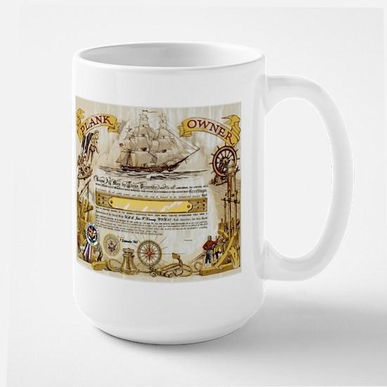 Plank Owner Certificate Large Mug Mugs
