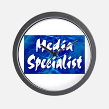 Media Specialist Web Wall Clock