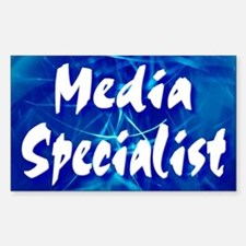 Media Specialist Web Rectangle Decal