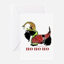 Santas Scottie Elf Greeting Cards (pk Of 10)