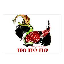 Santas Scottie Elf Postcards (Package of 8)