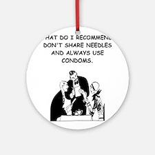 waitress joke Ornament (Round)