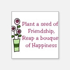 """Plant A Seed Square Sticker 3"""" x 3"""""""