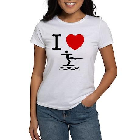 Waterskiing Women's T-Shirt