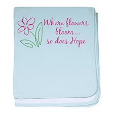 Where Flowers Bloom baby blanket