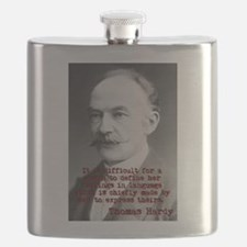 It Is Difficult For A Woman - Thomas Hardy Flask