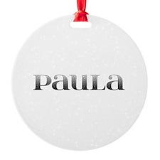 Paula Carved Metal Ornament