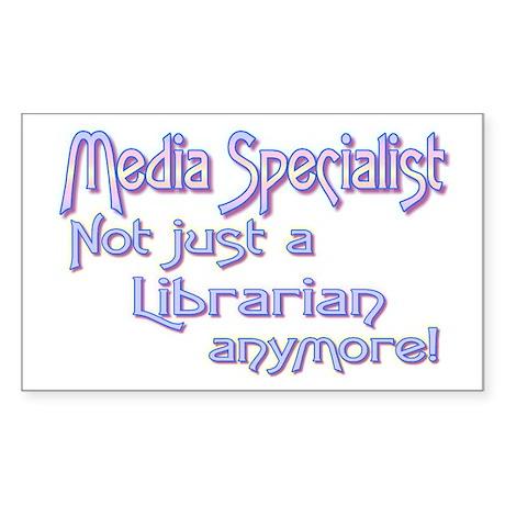 Media Specialist/Librarian Rectangle Sticker