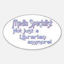 Media Specialist/Librarian Oval Decal