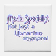 Media Specialist/Librarian Tile Coaster