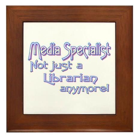 Media Specialist/Librarian Framed Tile