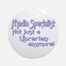 Media Specialist/Librarian Ornament (Round)
