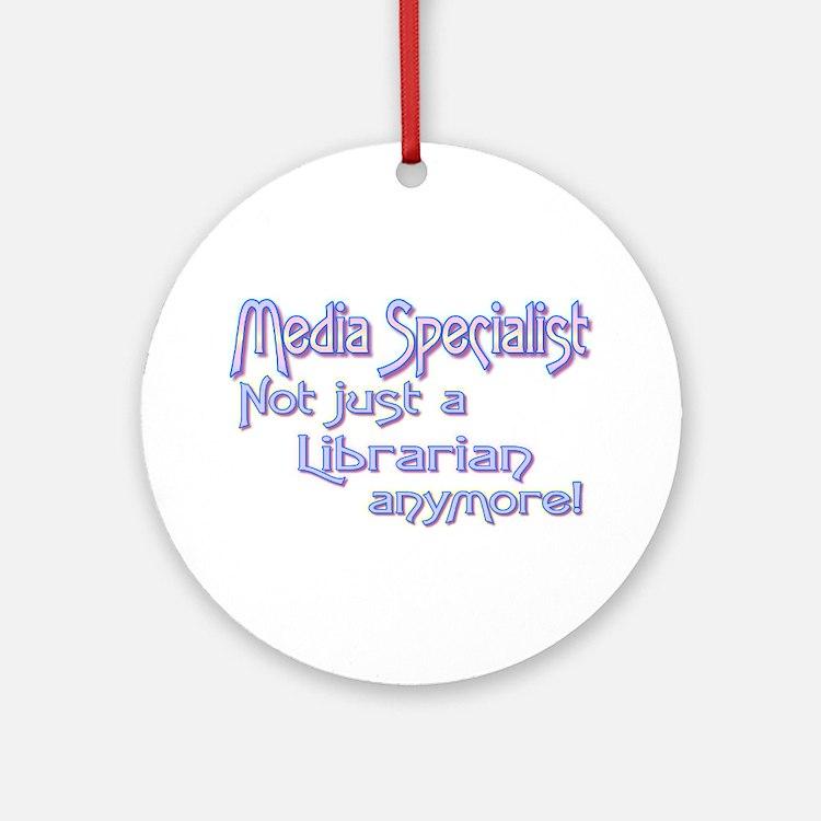 Media Specialist/Librarian Ornament (Round)