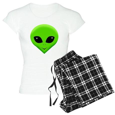 green alien.png Women's Light Pajamas