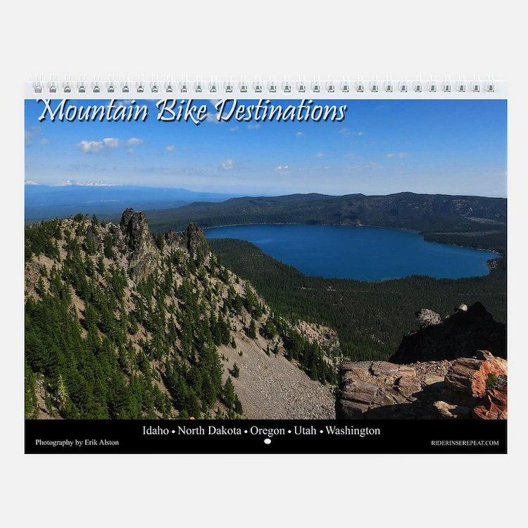 Mountain Bike Destinations Wall Calendar