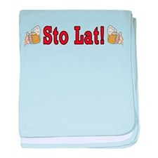 Sto Lat! With Beer Mugs baby blanket
