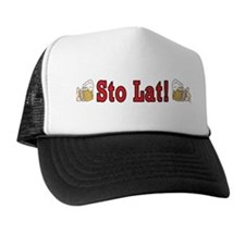 Sto Lat! With Beer Mugs Trucker Hat