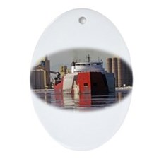 Roger Blough in Duluth harbor Ornament (Oval)